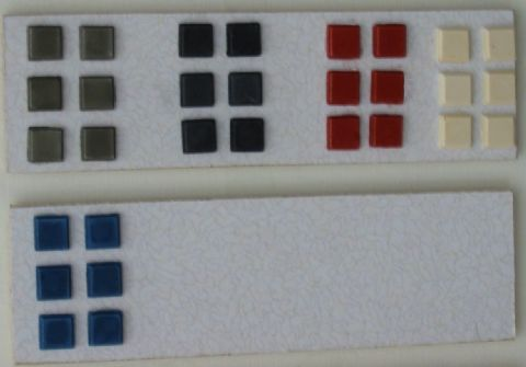 White Floor Tile Insert - 1/12th Scale - Dolls House